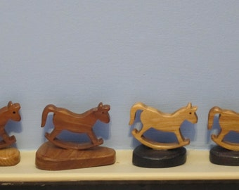 Miniature Wood Rocking Horses Ornaments