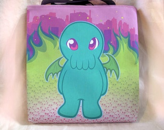 "18"" Canvas Tote Bag - Cthulhu"