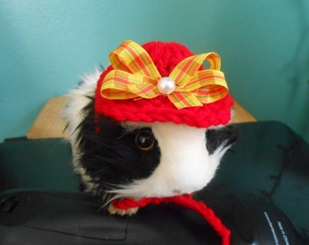 Guinea pig Hat, Easter Bonnet for Guinea Pig Clothes, Tiny Pet Costume, Halloween Guinea Pig Costume
