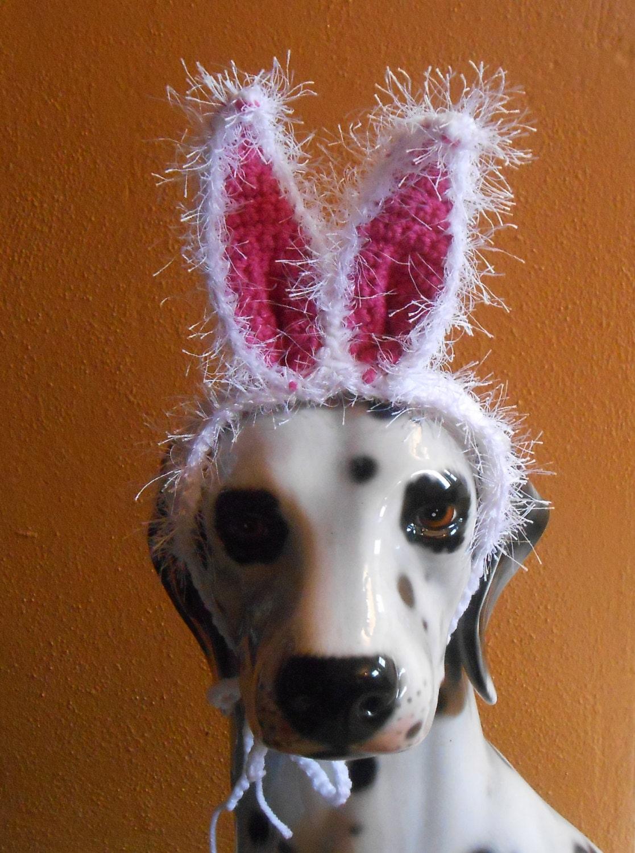 Large Dog Bunny Ears Crocheted Bunny Ears Headband Easter