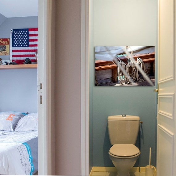 Bathroom Pictures And Canvases : Bathroom decor large wall art canvas sea by photoforwall