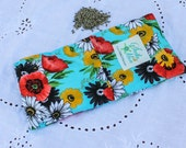 Lavender Eye Pillow w/ Colorful Vintage Flowers Removable Cover