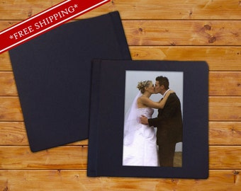Custom Wedding Album with Cameo and Genuine Leather Cover - Flush Mount Wedding Album - Wedding Album with Leather Cover 10 x 10