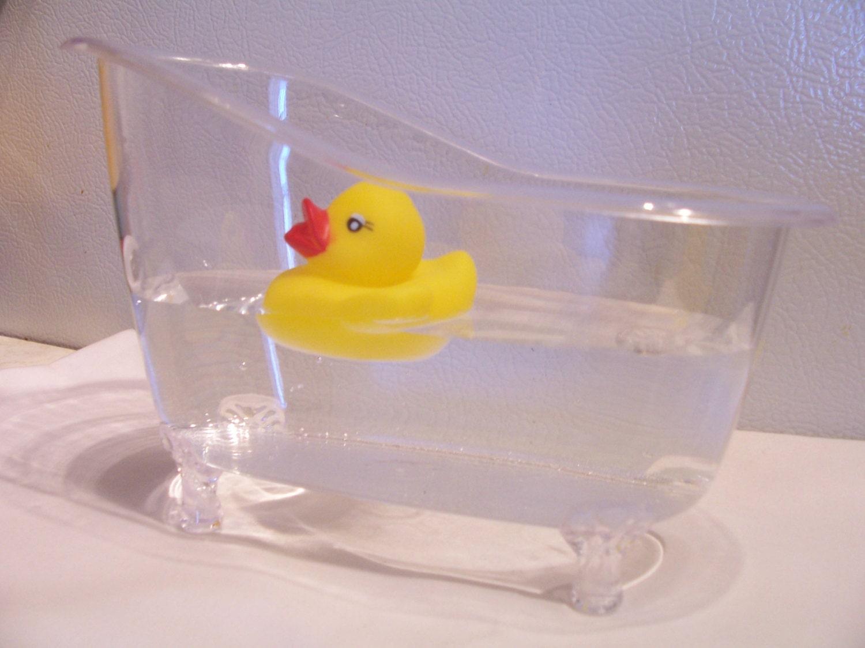 clear bathtub table centerpiece favour party table decor