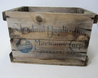 Vintage Wood Box, Storage Box,