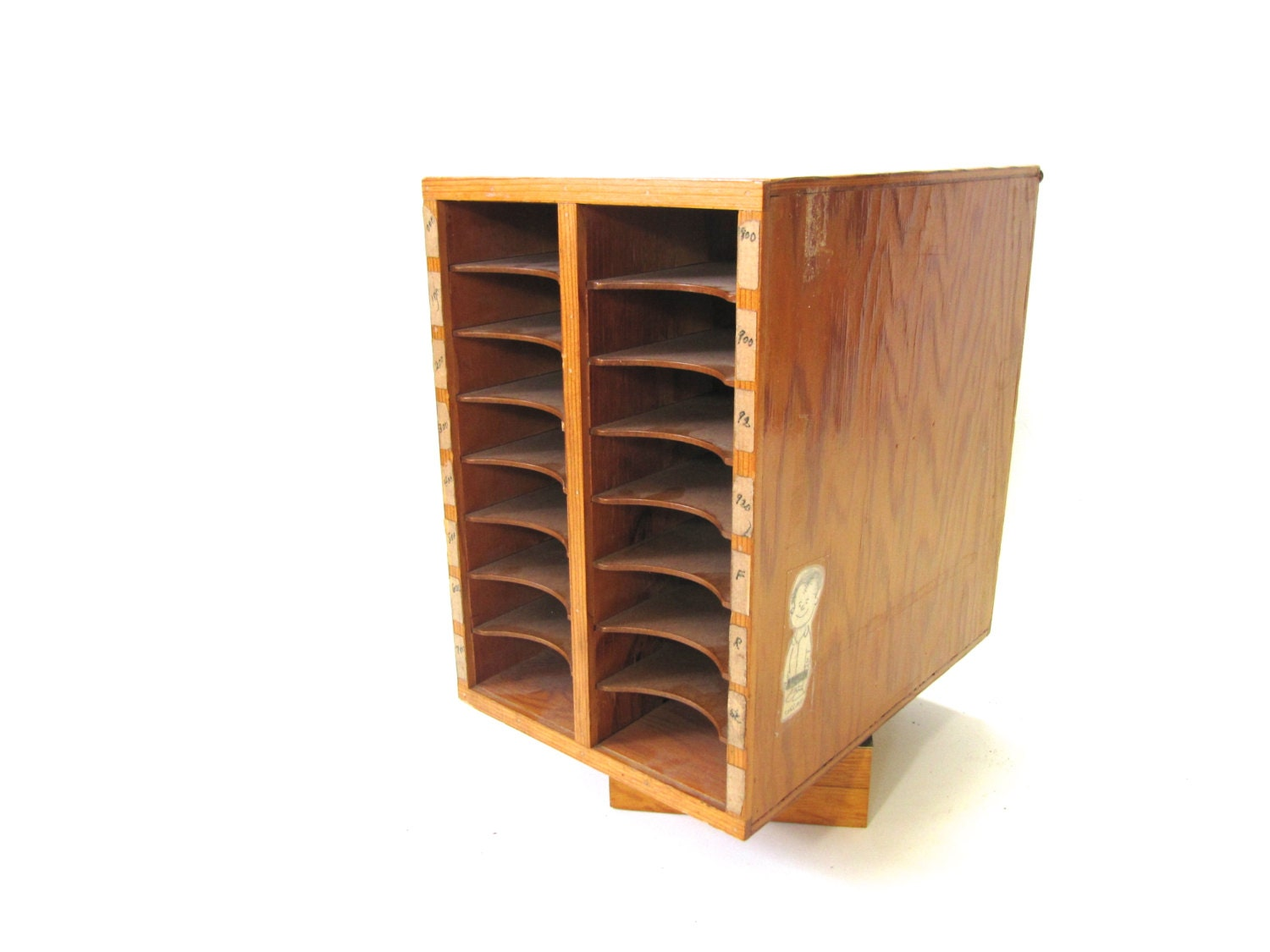 Wooden Library Furniture ~ Wood library card catalogue vintage storage