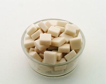 Glass mosaic tiles, white milk (100 tiles)
