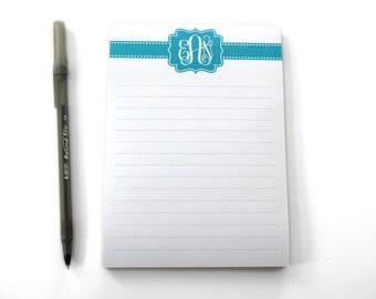 Ruled Monogram Notepad - Medium