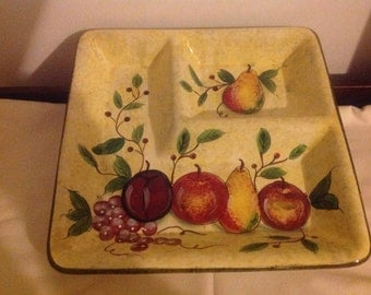 Vintage fruit tray, platter, housewares by Davco Silver