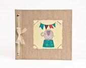 Baby Book - Baby Memory Book - Neutral, Unisex, Elephant, Baby Album - Elephant Baby Memory Book - Hugs and Kisses XO Baby Memory Book