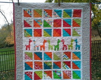 Custom Personalized Crib Quilt Gender Neutral By Quiltsforu2