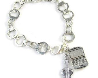 BBC Sherlock Holmes  / John Watson Johnlock Charm Bracelet