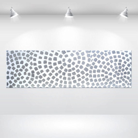Painting Acrylic Art Wall Art Abstract On Large Canvas Art White