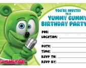 Gummibär Printable Birthday Invitations- The Gummy Bear Character