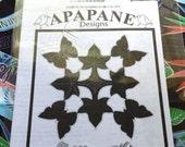 "Hawaiian quilt pattern ""Pulelehua on Kukui"" 20 inch x 20 inch"