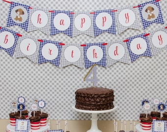 Puppy Party Decorations Puppy Party Printable Dog Birthday Party Puppy Party Favors: INSTANT DOWNLOAD