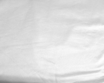 White Pleather Faux Leather Fabric by the Yard