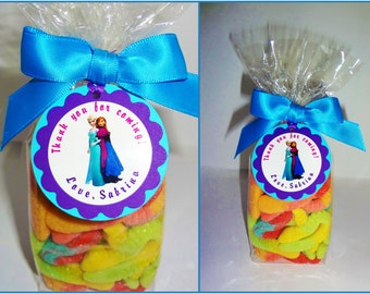 30 ct Frozen personalized gift tags great for birthday party favors, game prizes and more