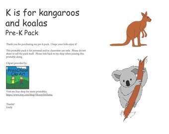 K is for Kangaroo and Koala