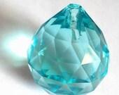 30mm Antique Green(Light Aqua) Chandelier Crystal Ball Shabby Chic