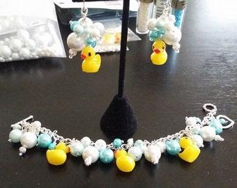 Baby Shower, Rubber Ducky Bracelet