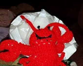 Crocheted Lobster Stuffed Toy