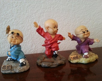 Set of 3 Martial Arts Figurines