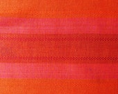 Vintage orange and pink curtain/ table cloth from the 60s Scandinavian modernist design