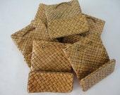 Set of 10 Pandan Mini Tote Bags / Jewelry and Gift Presentation