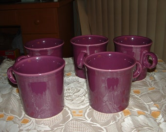 Purple Plum Fiesta Mugs (5 Set)