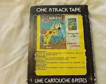 Vintage  8 Track Tape Chitarra Vagabond Romeo Livieri CL24-26