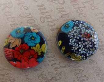 Shell Pendant Beads printed design flowers blossom
