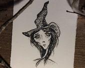 Witch portrait fine art print wiccan halloween witchcraft