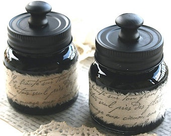 Inkwell with Script Muslin Ribbon