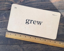 grew • vintage flash card • Winston Reader word card • 1920's ephemera