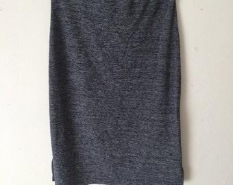 Heather gray stretch bodycon skirt