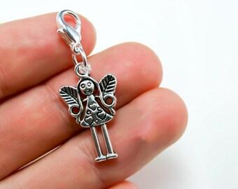 Fairy Charm. Silver Clip On Charm. Fairy Keychain Charm. SCC094