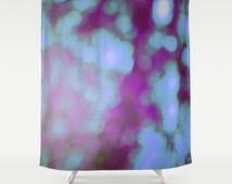 Purple Bokeh Shower Curtain - Original Bokeh Photograph - Purple Art - Bathroom Decor - Purple Shower Curtain - Made to Order