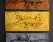 Skinny Lizard Colorful 3d Wallsculpture Art Gift Nature Accent