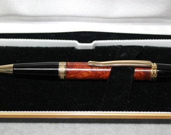 custom handmade wooden burl pen