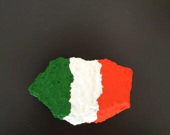 Ireland Flag Painted Rock