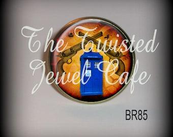 Tardis Ring, Time Travel Ring, Dr Who Ring, Bristish Adjustable Ring, Pistol Ring, Blimp Ring, Silver or Antique Brass, Choice of 4 Designss