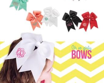 Beautiful monogrammed hair bow