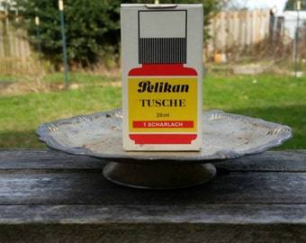 Vintage Pelikan Ink With Original Box in 1 Scarlet