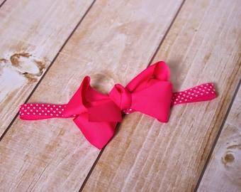 Baby Bow Headband.Newborn Headband.Baby Girl Headband.Headbands for Babies.Infant Headband.Baby Bows.Baby Headbands.Hot Pink Headband