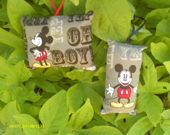 Mickey Mouse Pillow Ornaments 3 - Set of 2