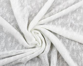 Off White Slub Pebble Sweater Knit Fabric - 1 Yard Style 6400