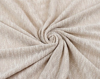 Blush Cloud Texture Sweater Knit Fabric - 1 Yard Style 6396