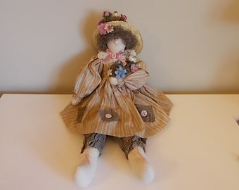 Nora The Bird Lady Soft Sculpture Doll - DL-004-1
