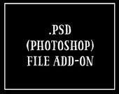 PSD File of logo design - ADD ON
